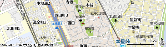 愛知県名古屋市南区本星崎町(宮西)周辺の地図