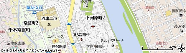 静岡県沼津市下河原町周辺の地図