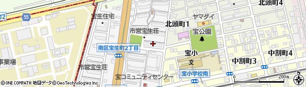 宝生荘周辺の地図