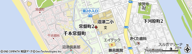 静岡県沼津市常盤町周辺の地図