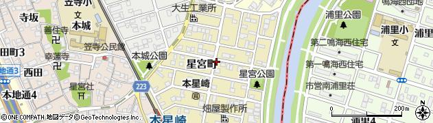 愛知県名古屋市南区星宮町周辺の地図