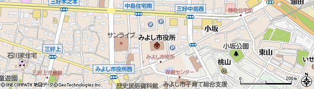 愛知県みよし市周辺の地図