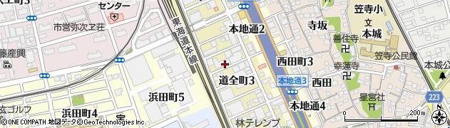愛知県名古屋市南区道全町周辺の地図