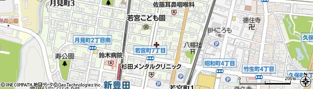 沙蘭蛮 若宮店周辺の地図