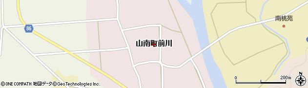 兵庫県丹波市山南町前川周辺の地図