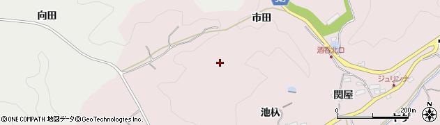 愛知県豊田市幸海町(市田)周辺の地図