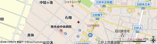 愛知県みよし市三好町(石畑)周辺の地図