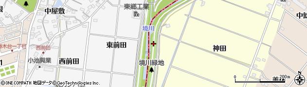 愛知県みよし市西一色町(上川田)周辺の地図