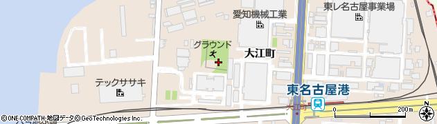 愛知県名古屋市港区大江町周辺の地図