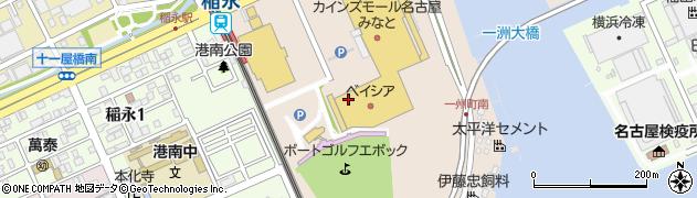 愛知県名古屋市港区一州町周辺の地図