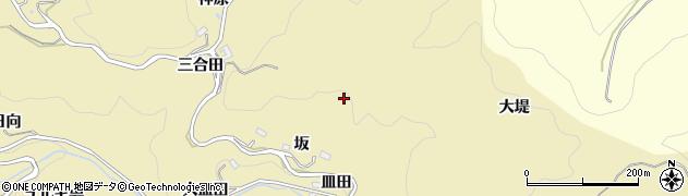 愛知県豊田市上佐切町(坂)周辺の地図