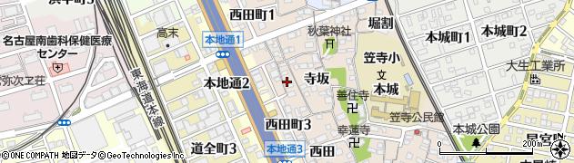 愛知県名古屋市南区本星崎町(西中)周辺の地図