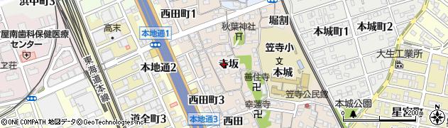 愛知県名古屋市南区本星崎町(寺坂)周辺の地図