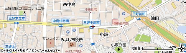 愛知県みよし市三好町(溝ノ上)周辺の地図