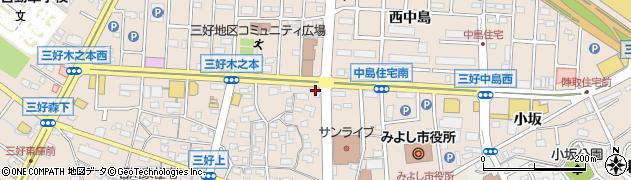 歌志軒 みよし店周辺の地図