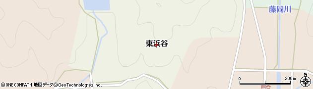 兵庫県丹波篠山市東浜谷周辺の地図