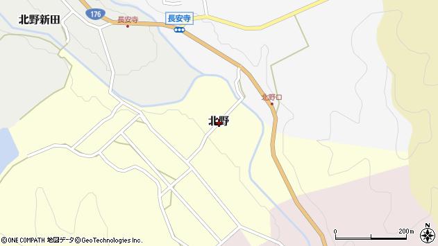 〒669-2824 兵庫県丹波篠山市北野の地図