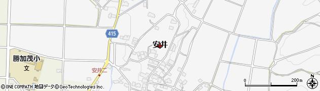岡山県津山市安井周辺の地図