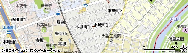 愛知県名古屋市南区本城町周辺の地図
