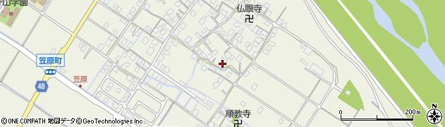 滋賀県守山市笠原町周辺の地図