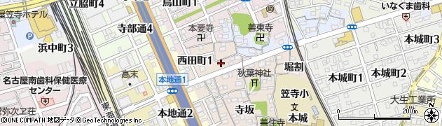 愛知県名古屋市南区本星崎町(廻間)周辺の地図