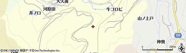 愛知県豊田市国谷町(牛コロビ)周辺の地図