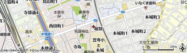 愛知県名古屋市南区本星崎町(堀割)周辺の地図