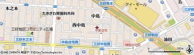 愛知県みよし市三好町(南中島)周辺の地図