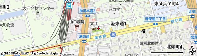 大法禅寺周辺の地図