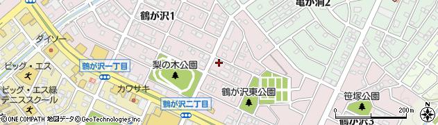 愛知県名古屋市緑区鶴が沢周辺の地図