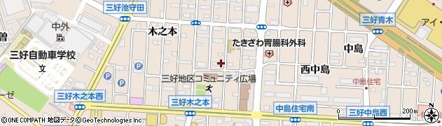 愛知県みよし市三好町(大坪)周辺の地図