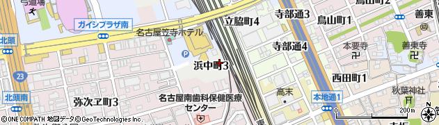 愛知県名古屋市南区浜中町周辺の地図