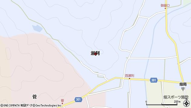 〒669-2303 兵庫県丹波篠山市瀬利の地図