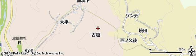 愛知県豊田市下佐切町(古越)周辺の地図