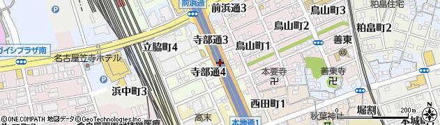 愛知県名古屋市南区寺部通周辺の地図