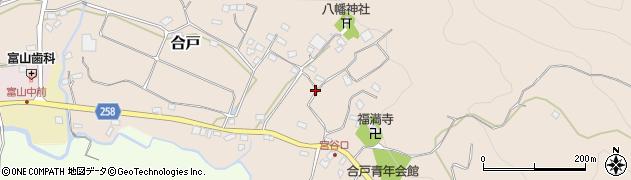 千葉県南房総市合戸周辺の地図