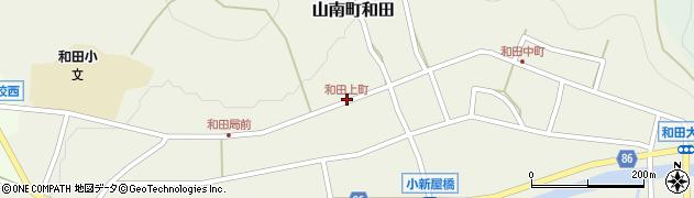 和田上町周辺の地図