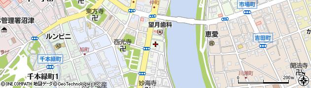 静岡県沼津市本(宮町)周辺の地図