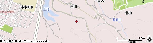 愛知県豊田市市木町(南山)周辺の地図