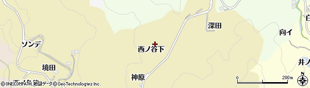 愛知県豊田市上佐切町(西ノ谷下)周辺の地図