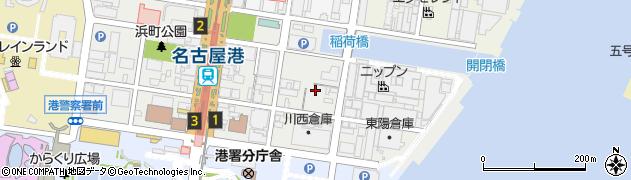 愛知県名古屋市港区入船周辺の地図
