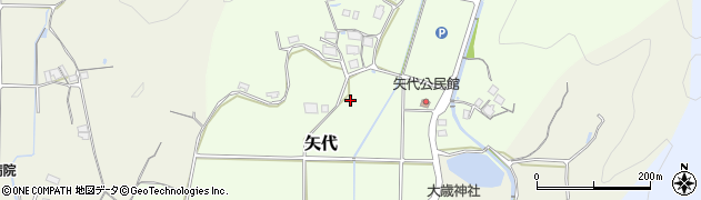 兵庫県丹波篠山市矢代周辺の地図
