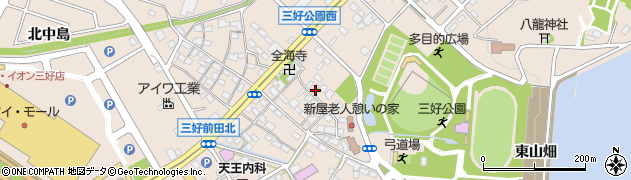 愛知県みよし市三好町(新屋)周辺の地図