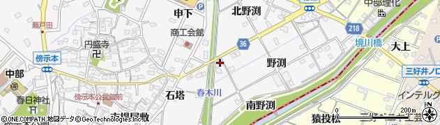 愛知県愛知郡東郷町春木南野渕周辺の地図
