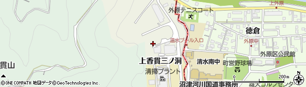 静岡県沼津市上香貫二ノ洞周辺の地図