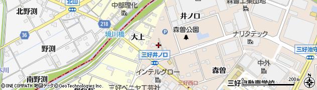 愛知県みよし市三好町(井ノ口)周辺の地図