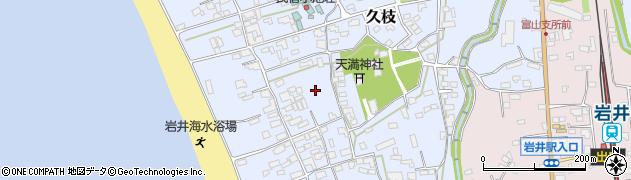千葉県南房総市久枝周辺の地図