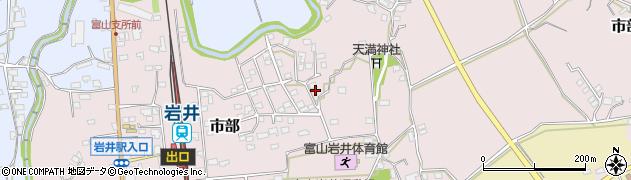 千葉県南房総市市部周辺の地図