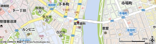 静岡県沼津市本(仲町)周辺の地図