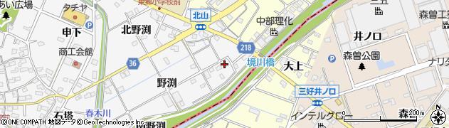 愛知県愛知郡東郷町春木野渕周辺の地図